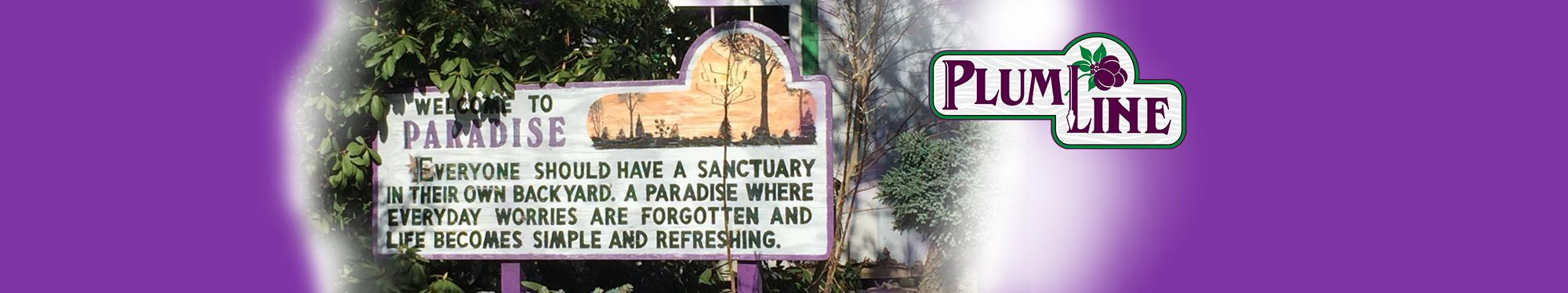 Plumline Nursery sign